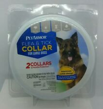 PET ARMOR FLEA & TICK COLLAR FOR LARGE DOGS - 2 COLLARS IN TIN