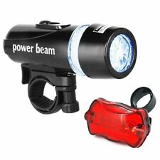 Waterproof 5 LED Bike Bicycle Head & Rear Light with 6 Modes - By DIGIFLEX