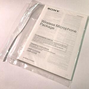 SONY Wireless Microphone MANUAL & DISC - UWP-X7 X8, UWP-V1 V2 V6 - 3-870-284-13