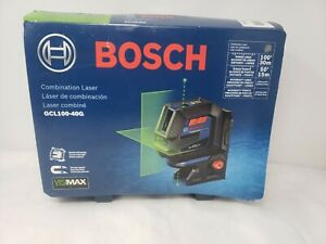 Bosch GCL100-40G Green Beam Self-Leveling Cross-Line Laser with Plumb Points