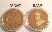 """2015 1 OZ 1930 Penny """"85 Year Anniversary Coin"""" (Finished in 999 24k Gold)"""
