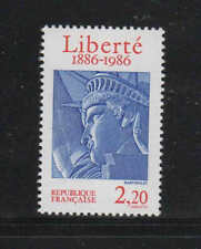 FRANCE #2014  1986  STATUE OF LIBERTY CENTENARY    MINT  VF NH  O.G  a