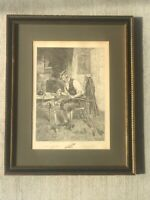 """The Royal & Ancient"" etching by James Dobie from original by W. Dendy Sadler"