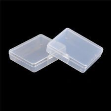 2x Transparent Plastic Storage Box Clear Multipurpose Part Product Small Box  EZ