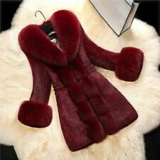 Overcoat Ladies Winter Fur Sweater Elegant Full Sleeve Fluffy Clothing Comfy Fit