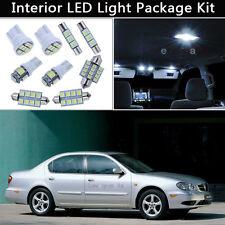11PCS White LED Interior Car Lights Package kit Fit 2002-2003 Nissan Maxima J1