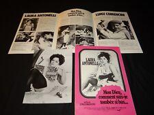 laura antonelli MON DIEU COMMENT ...rare dossier scenario presse cinema 1975