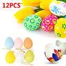 12pcs Kids Favor Plastic Hanging Easter Egg Easter Decoration DIY Painting Eggs