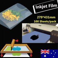27.9cm x 43cm Waterproof Inkjet Milky Transparency Film - 100 Sheets/pack