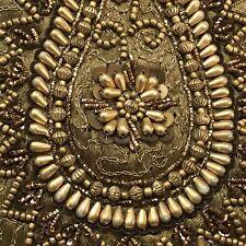 Handmade India Wrist Brown Beaded Embellishment Small Bag Purse