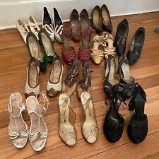 1940s 50s 60s Vintage Womens Shoes Platforms Lot / Vintage Shoe Lot 14pc