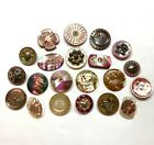 Antique Button ~ Beautiful Collection of Pearl inc Shapes, Insect, w Steel ++