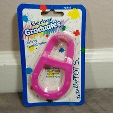 Gerber Graduates Safety Toothbrush Toddler 1994 Pink