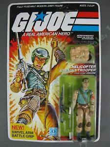 ORIGINAL MOC 1983 GI Joe Airborne v1 Helicopter Assault Trooper Action Figure NR