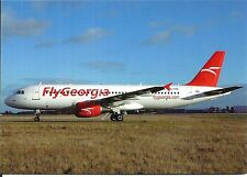 FLY GEORGIA - AIRBUS A320-214 - 4L-FGC - PRAGUE - 01/2013 - CARTE/POSTCARD NEW