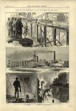 1875 New Graving Dock Middlesbrough Liverton Ironstone Winning Blasting