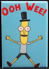 "Mr. Poopy Butthole OOH WEE! 2"" X 3"" Fridge / Locker Magnet. Rick and Morty"