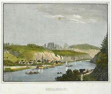 BAD SCHANDAU - Gesamtansicht - Schiffner - kolorierter Stahlstich 1840