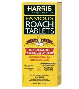 Harris MEGA BOX Famous Roach Killer 145 Tablets 6oz EPA Approved Cucaracha Bugs