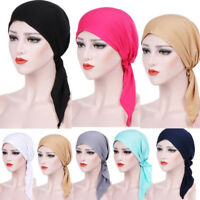 Women Ladies Head Scarf Chemo Hat Turban Pre-Tied Headwear Bandana Tichel Cancer