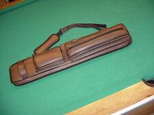 BROWN 4x8 CUE CASE SAVE $$ pool billiards CARLSCUES B14-3039