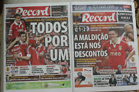 UEFA CUP 2013  BENFICA - CHELSEA FINAL programme NEWSPAPERS after and before