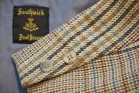 Southwick Paul Stuart Tweed Woven Multicolor Plaid Sport Coat Jacket Sz 42R