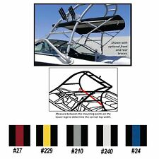 "TOWER BIMINI TOP for Wakeboard Tower Boats 5'L X 26""H X 66""-74""W Striped Colors"