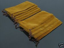 10PCS Brown Flannel Bag Pipe Bag For Tobacco Smoking Pipe #85