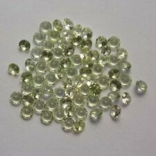 Lot of 10 Round Cut 3.5MM Light Peridot Color Lab Spinel Loose Gemstone CLOSEOUT