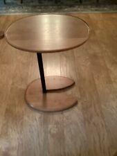 Unusual oval, solid wood side/wine table
