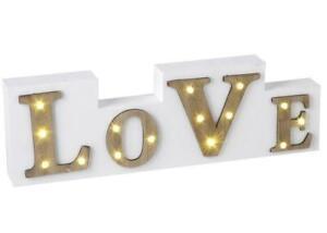 LED Light Home Deco  Love Sign Wooden Block LOVE Light Up Sign