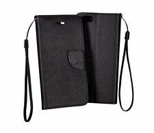 ^ Für HTC A9S FANCY Handy Tasche Cover Hülle Book Case Etui SCHWARZ