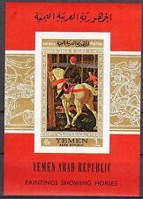 Yemen 1968 Art Paintings S/S imperf. MNH** Mi.:Bl.73B 18,00 Eur