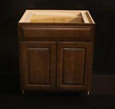"Kraftmaid Chocolate Cherry Kitchen Base Or Bathroom Vanity Sink Cabinet 30"""