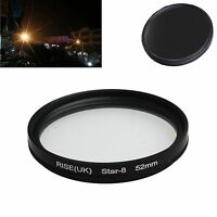 52mm  8 -point star line filter lens filter for Canon Nikon Sony camera lens