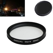52mm  8 -point star line filter lens filter for Canon Nikon Sony camera lens