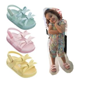 BABY INFANTS GIRLS RETRO MINI MELLISSA JELLY SUMMER HOLIDAY SANDALS SHOES SIZE