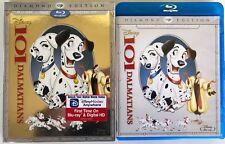 DISNEY 101 DALMATIANS BLU RAY DVD 2 DISC SET + SLIPCOVER SLEEVE RARE OOP VAULTED