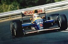 Nigel Mansell Hand Signed Canon Williams Renault 18x12 Photo F1 6.