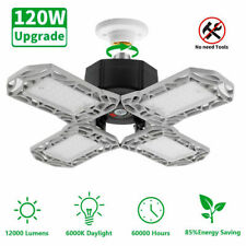 120W 12000Lm Deformable Garage Light Workshop Ceiling Lamp Home High Bay Fixture