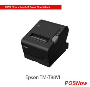 Epson Thermal Printer TM-T88VI USB/Ethernet/Serial BLK PSU + INC IEC CBL