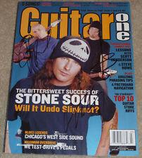 Stone Sour Signed Gutiar One Magazine Auto, Corey Taylor, Josh Rand & Jim Root