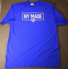 New York Made Knicks Mens Adult Large Blue T-shirt NBA Basketball 2019 Finals