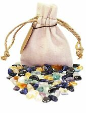 Concentration Power Pouch Healing Crystals Stones Set Tumbled Natural Gemstones