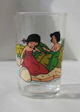 Set of 3 Rare Vintage Disney Jungle Book Glasses / Tumblers Mowgli / Girl / Elep