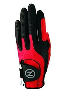 Zero Friction Junior Compression-Fit Synthetic Golf Gloves, Universal Fit RED