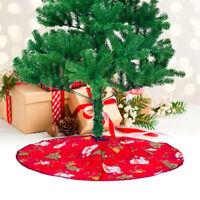 90cm Merry Christmas Tree Skirt Floor Mat Cover Plush Rug XMAS Party Home Decor