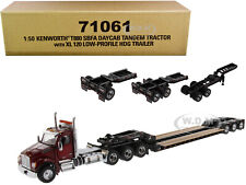 KENWORTH T880 SBFA W/ XL 120 TRAILER & 3 ACCESSORIES 1/50 DIECAST MASTERS 71061