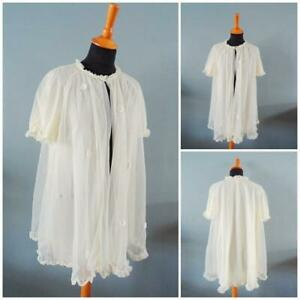 Vintage 1970s Dressing Gown Nylon Yellow Daisy Ladies Negligee St Michael